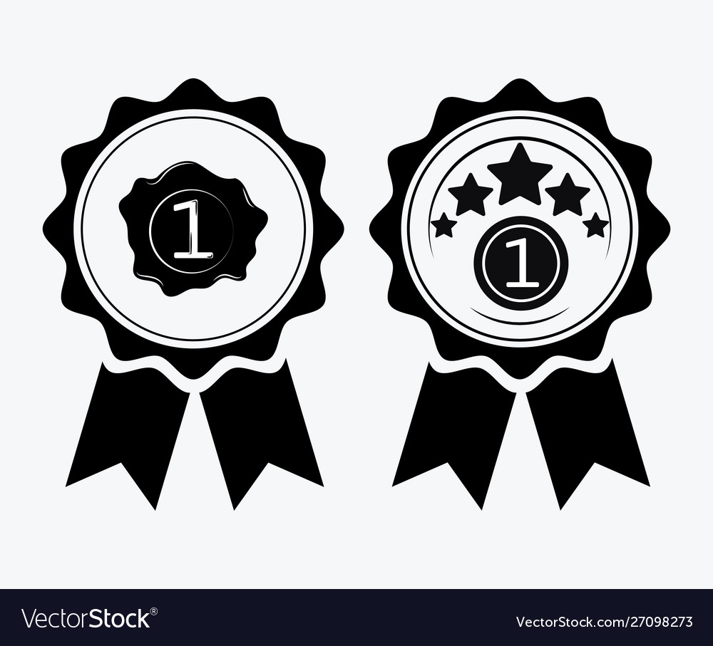 A sign premium class medal with a star and