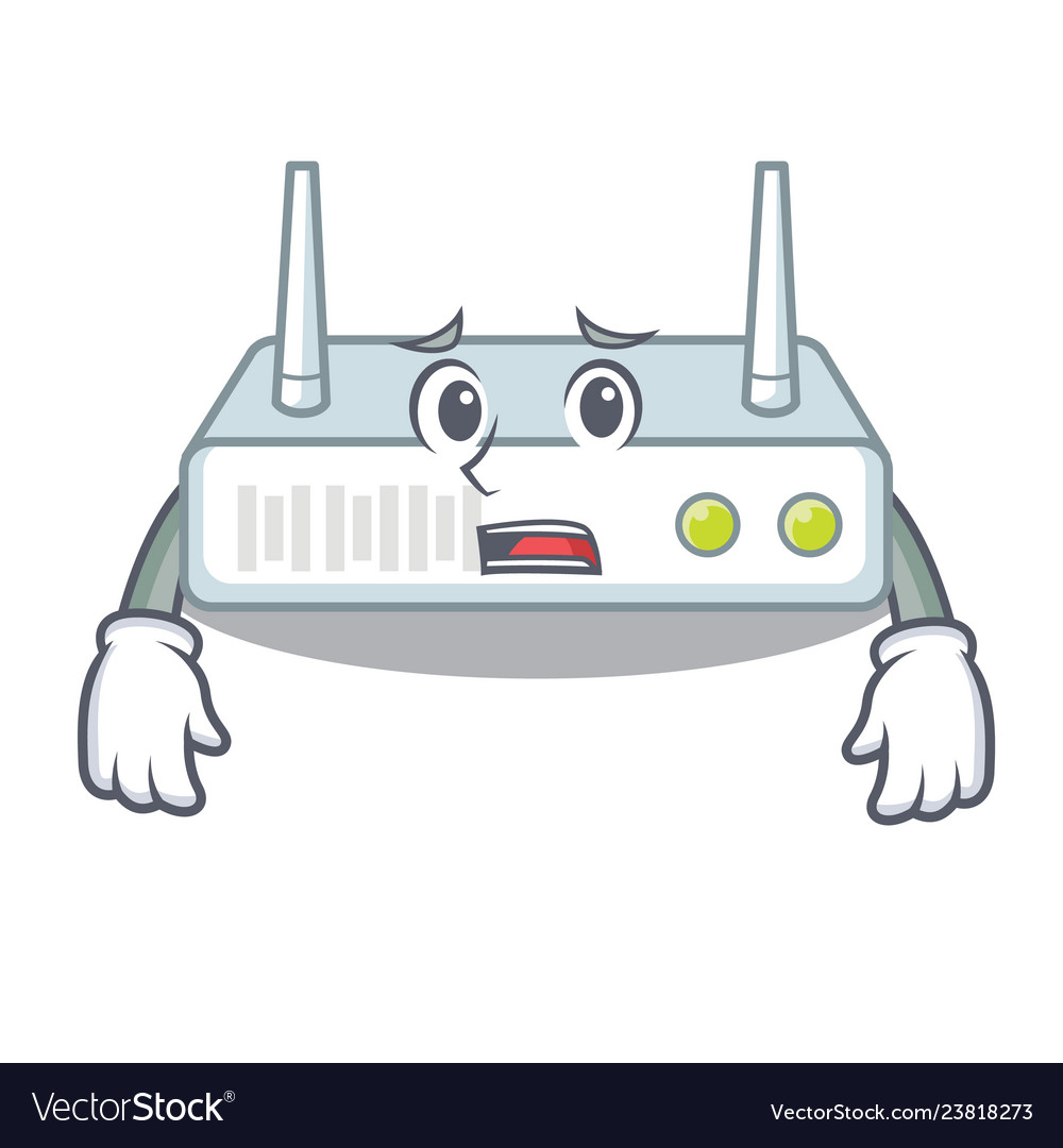 Afraid router isolated with in the mascot