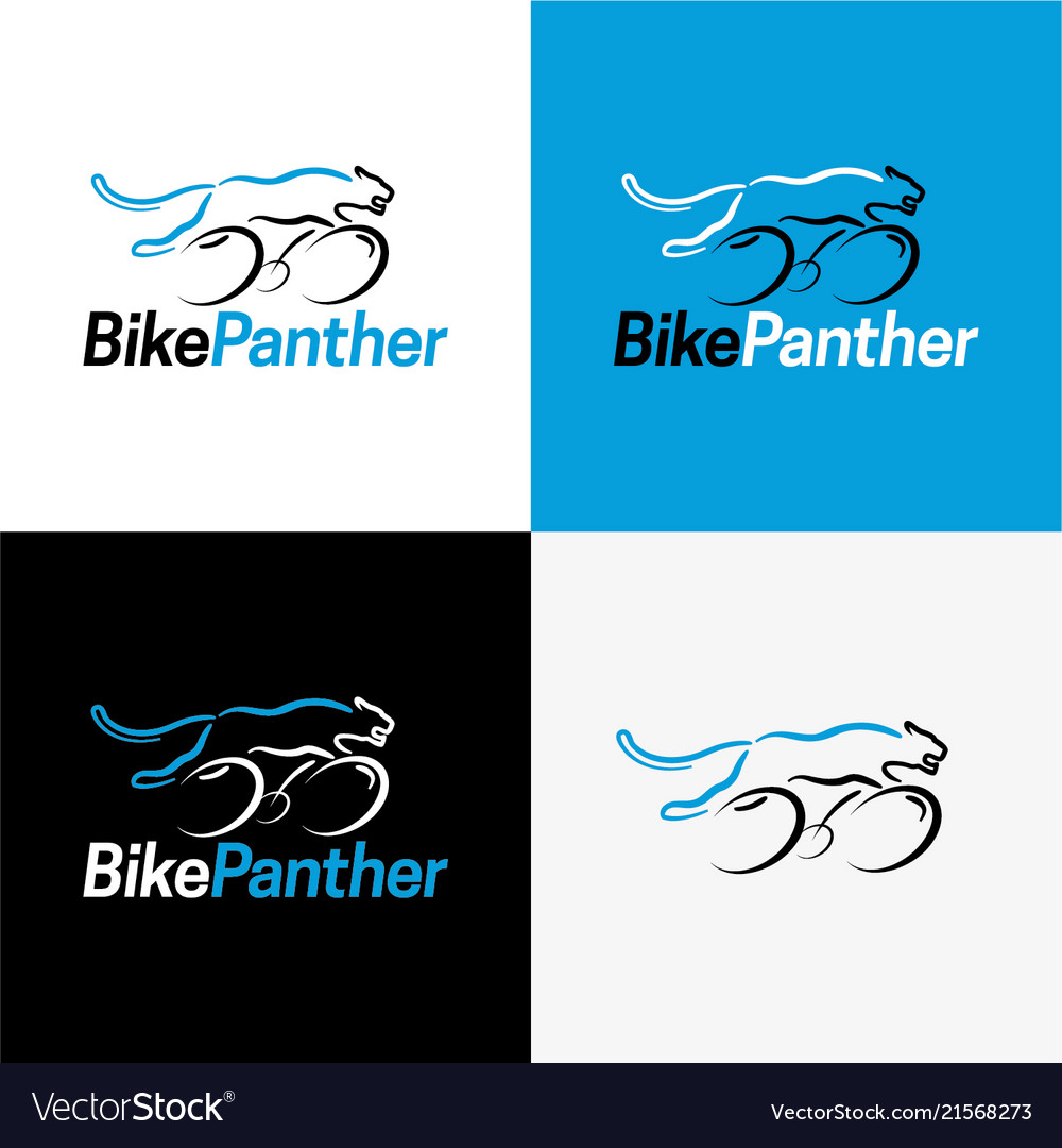 bike panther logo and icon royalty free vector image