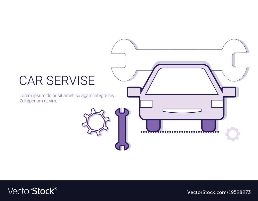 Car service mechanic repair concept template web