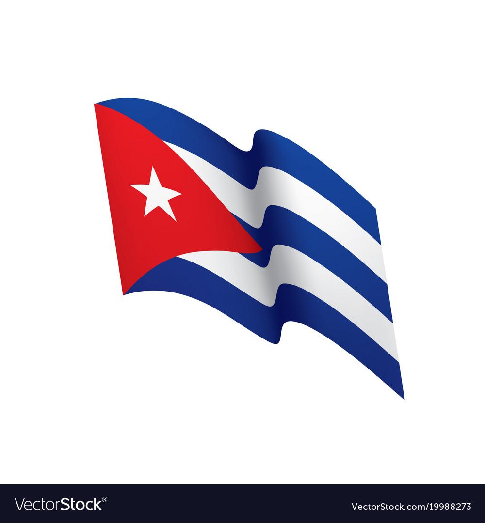 Beautiful Cuba Flag Vector Image