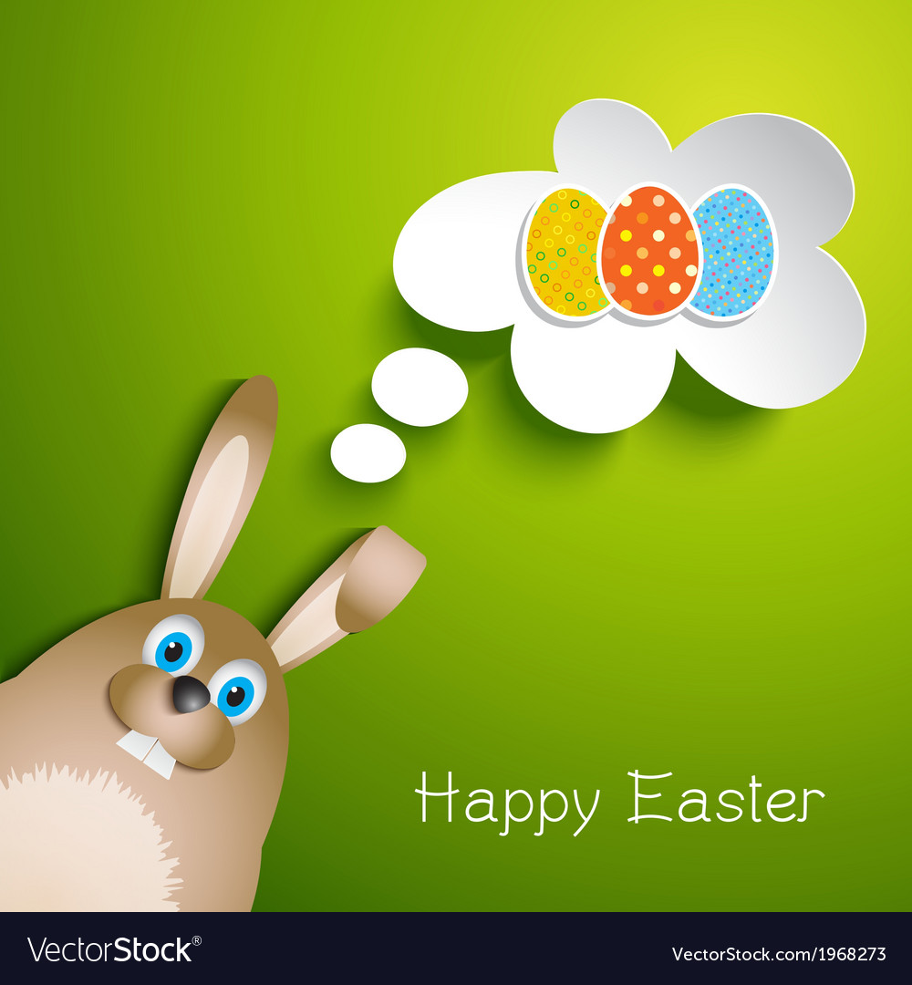 Cute Easter background with rabbit