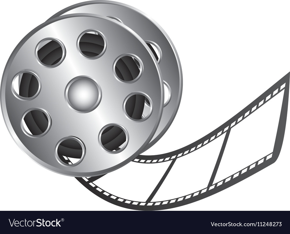 film tape reel icon image royalty free vector image