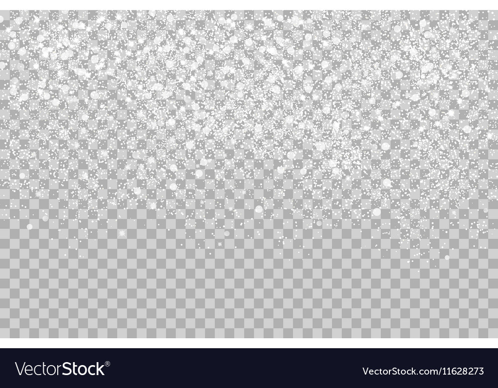 Overlay Falling shining snow isolated on the