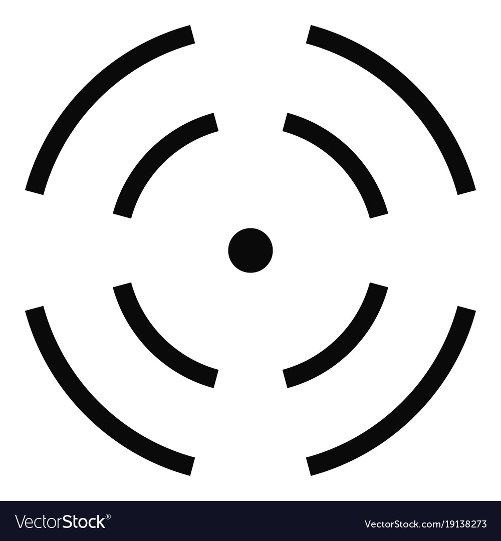 Point Radar Icon Simple Style Royalty Free Vector Image
