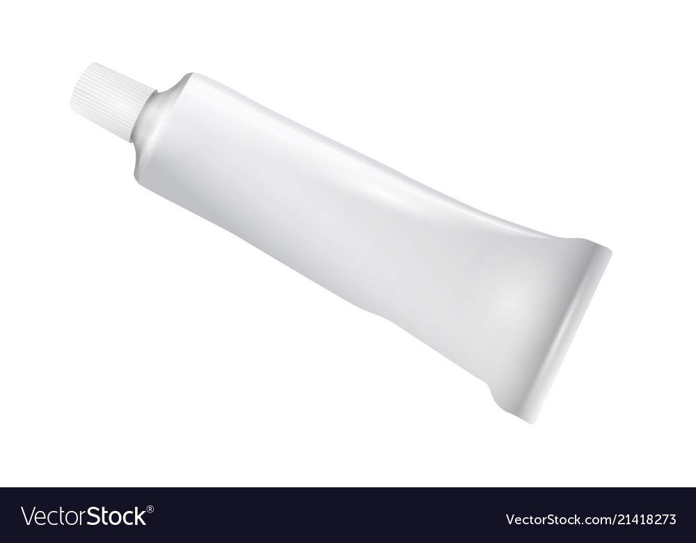 Realistic empty white tubeblank packaging