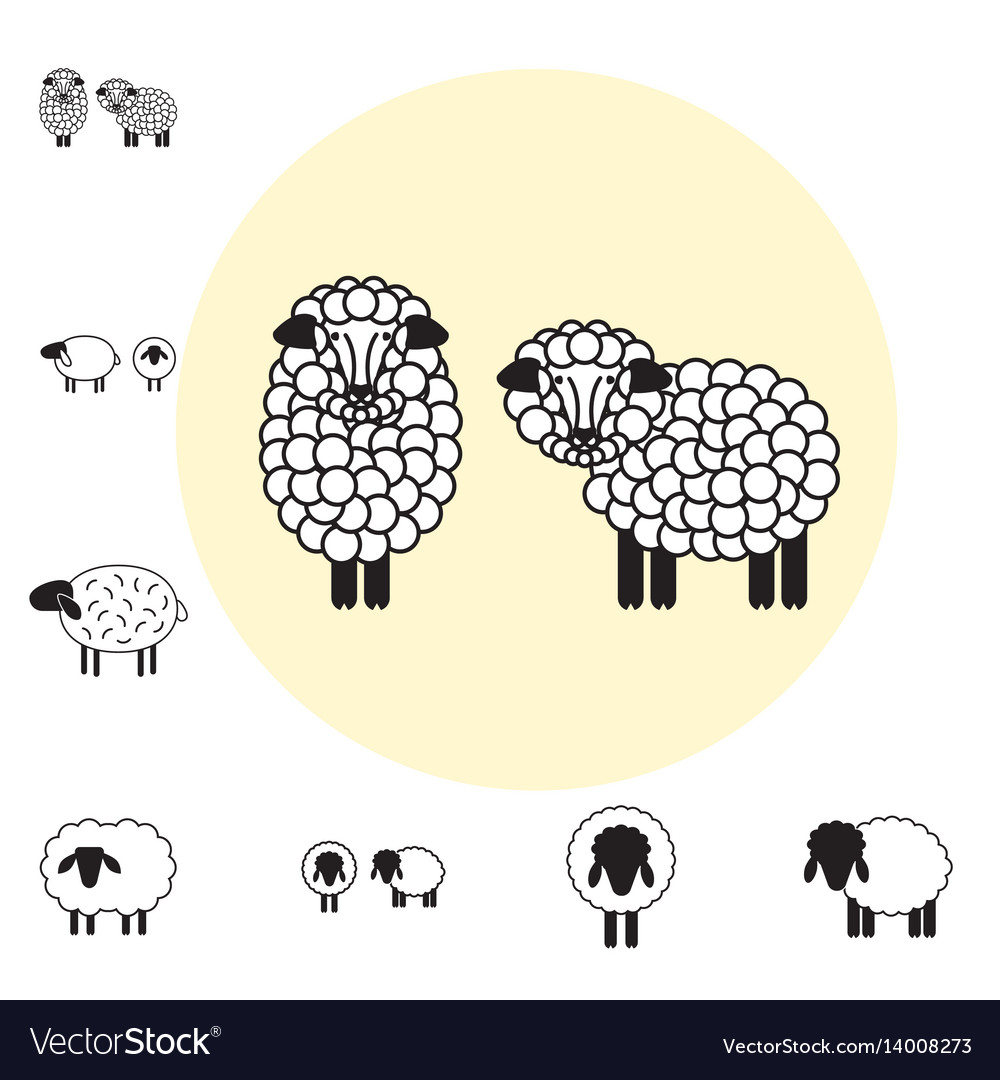 Sheep icon isolated