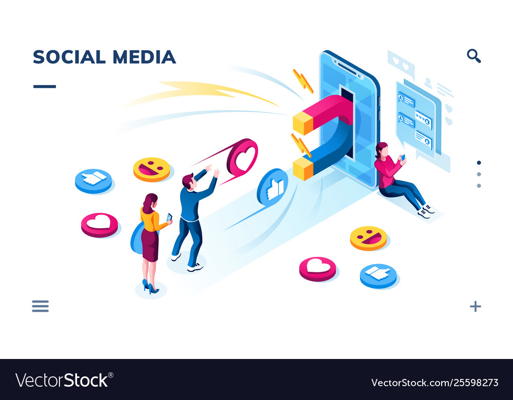 Social media users followers sharing content