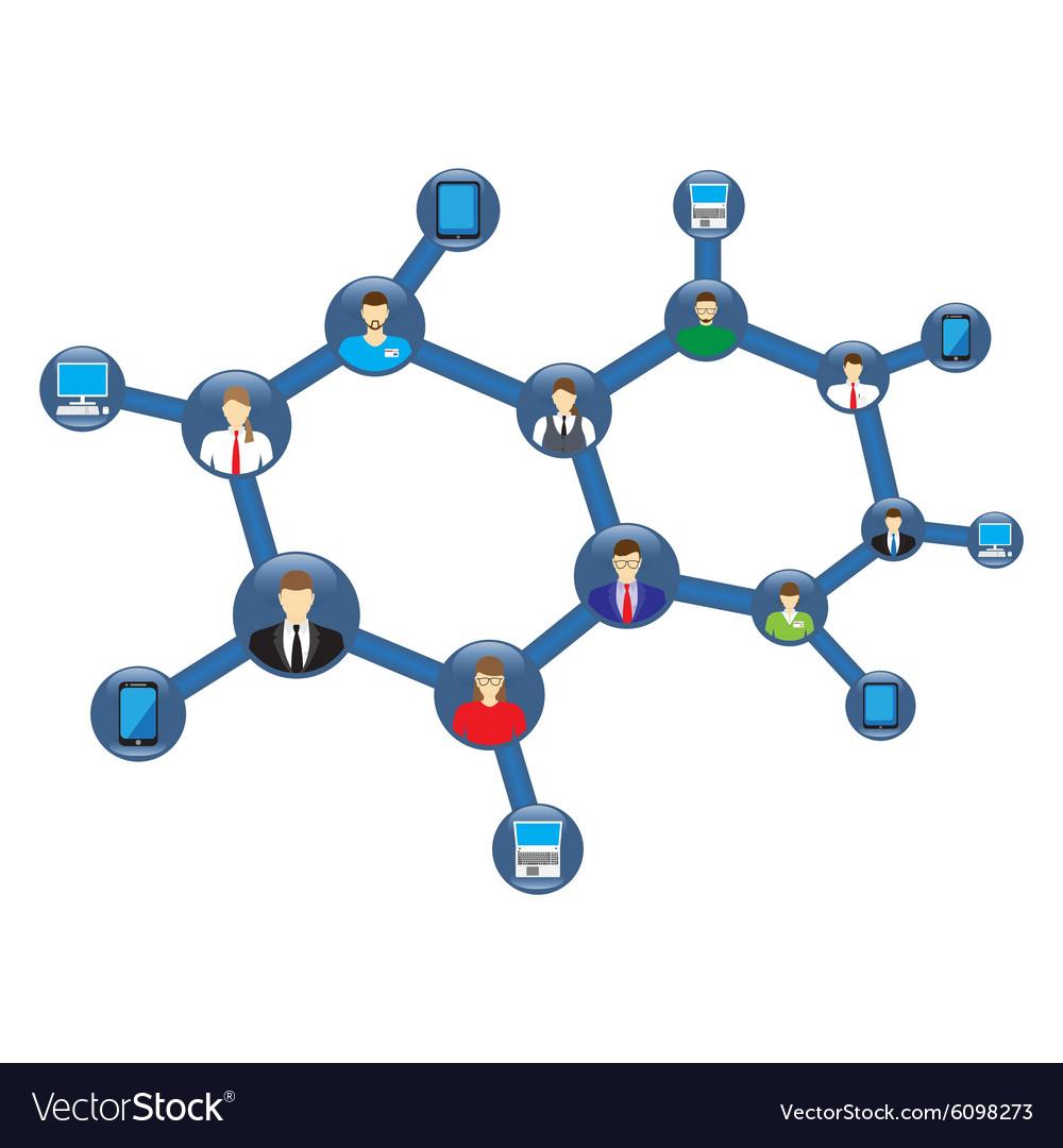Social Network Social Media Icon vector image