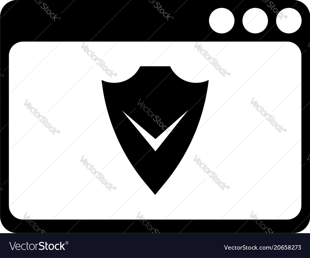 Web page with a shield icon