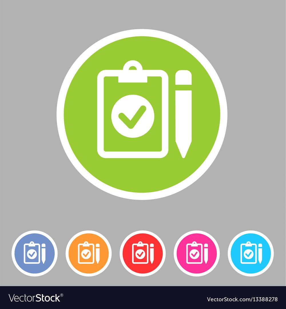 Clipboard checklisticon flat web sign symbol logo