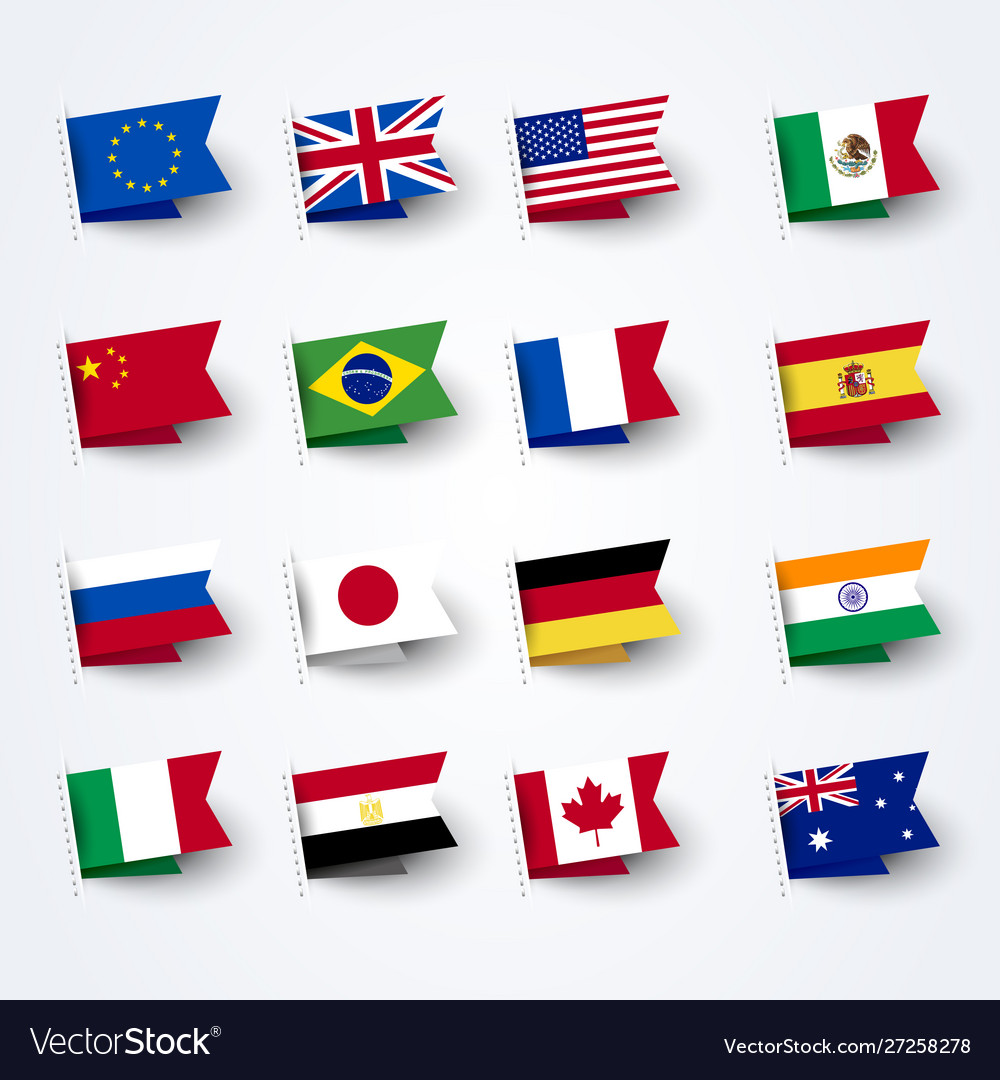 Different flags world set