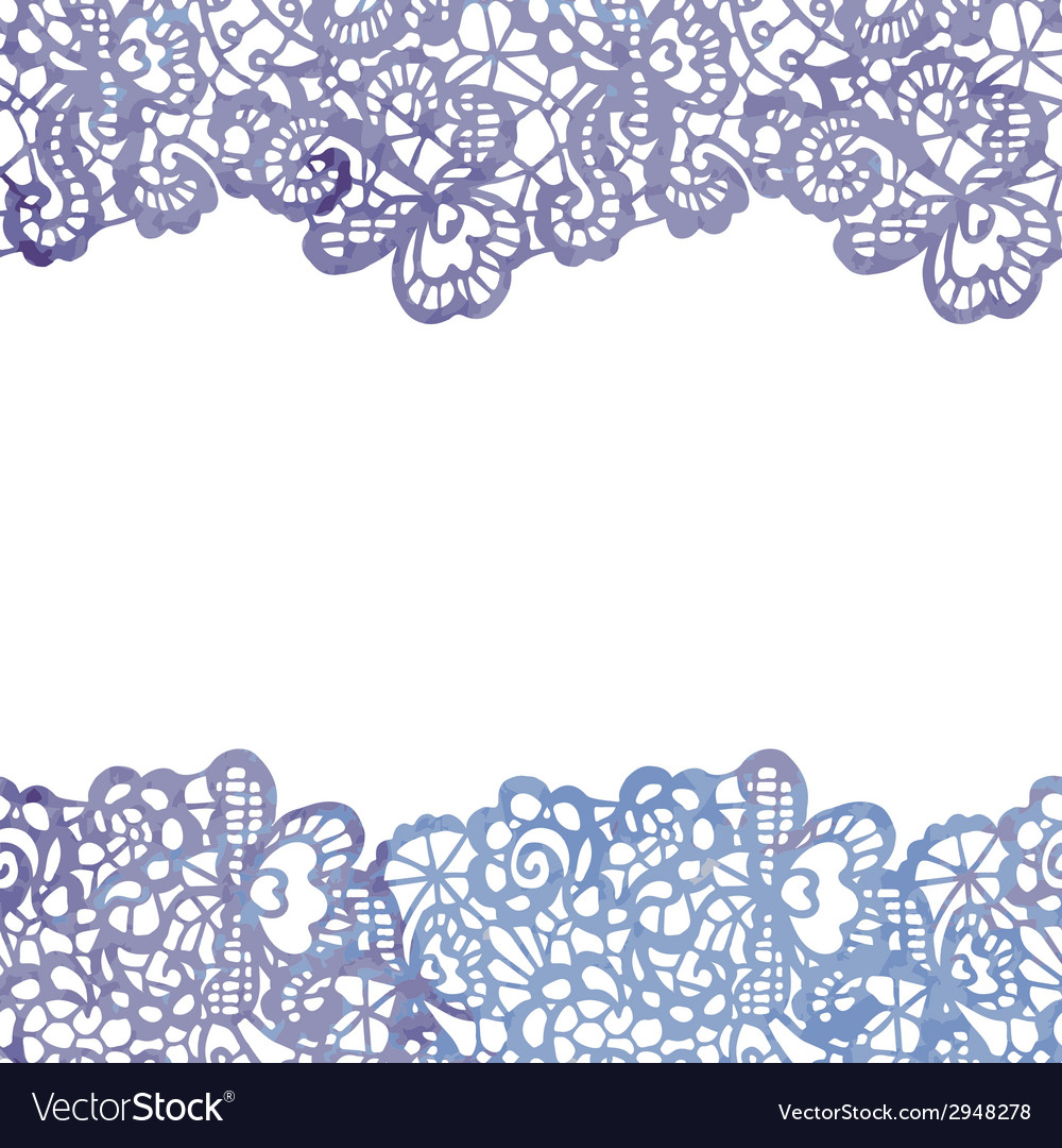 Lacy elegant border Invitation card