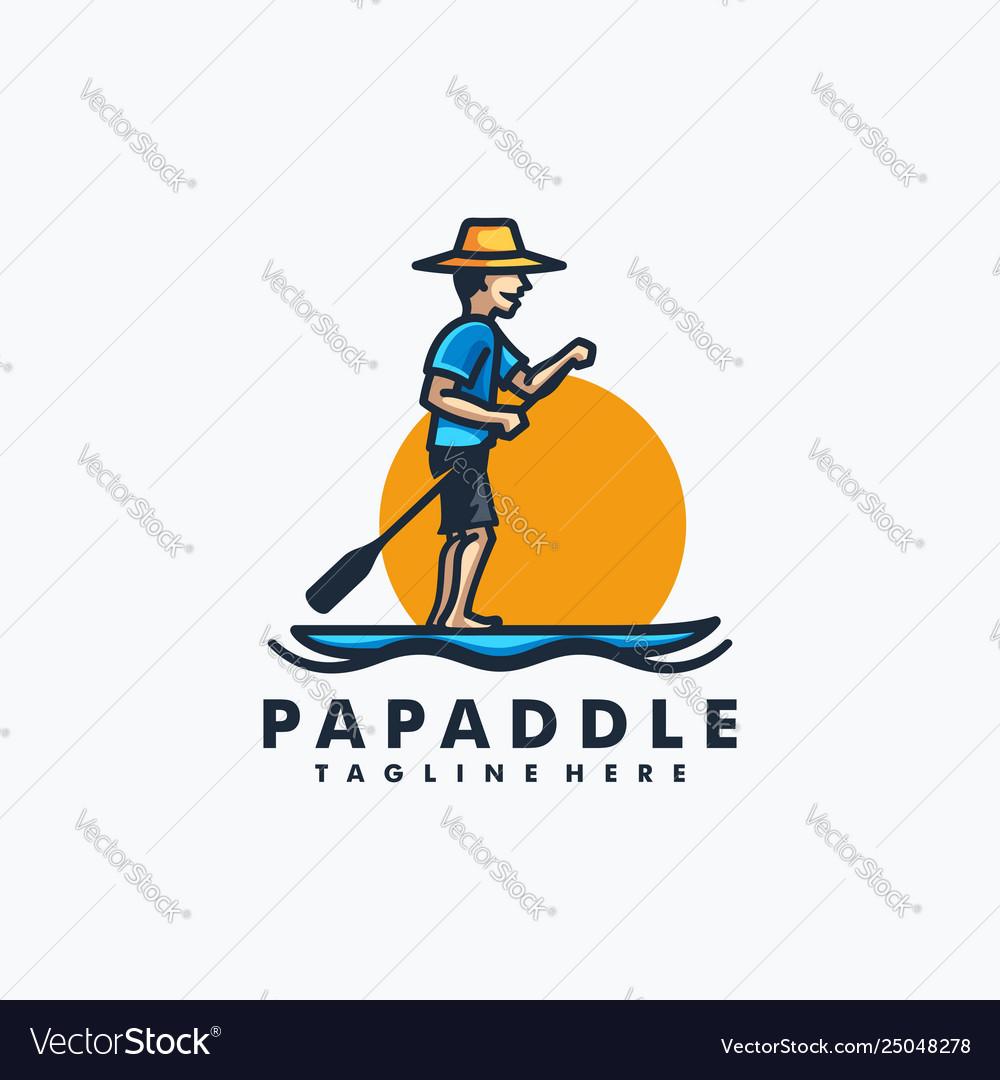 Papa paddle design concept template