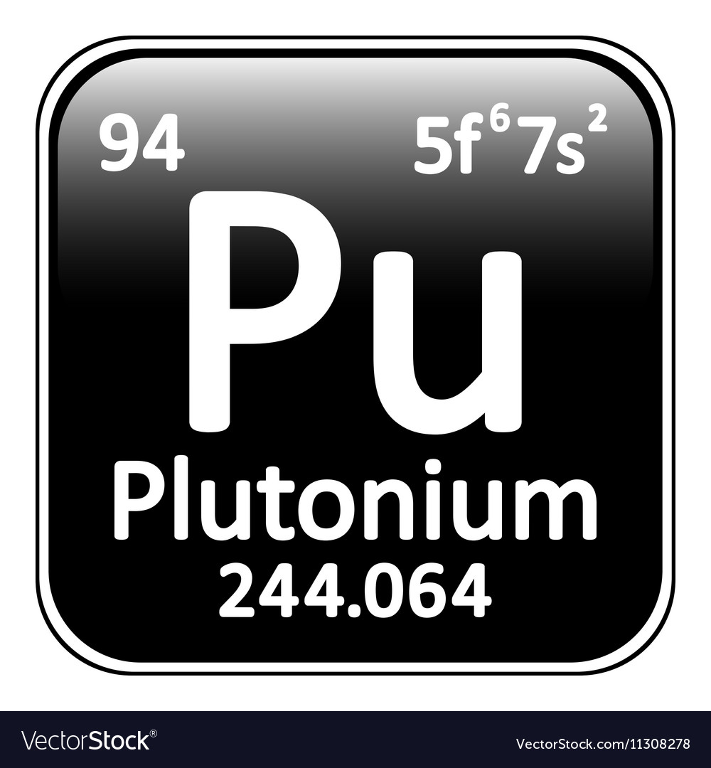 Periodic Table Element Plutonium Icon Royalty Free Vector