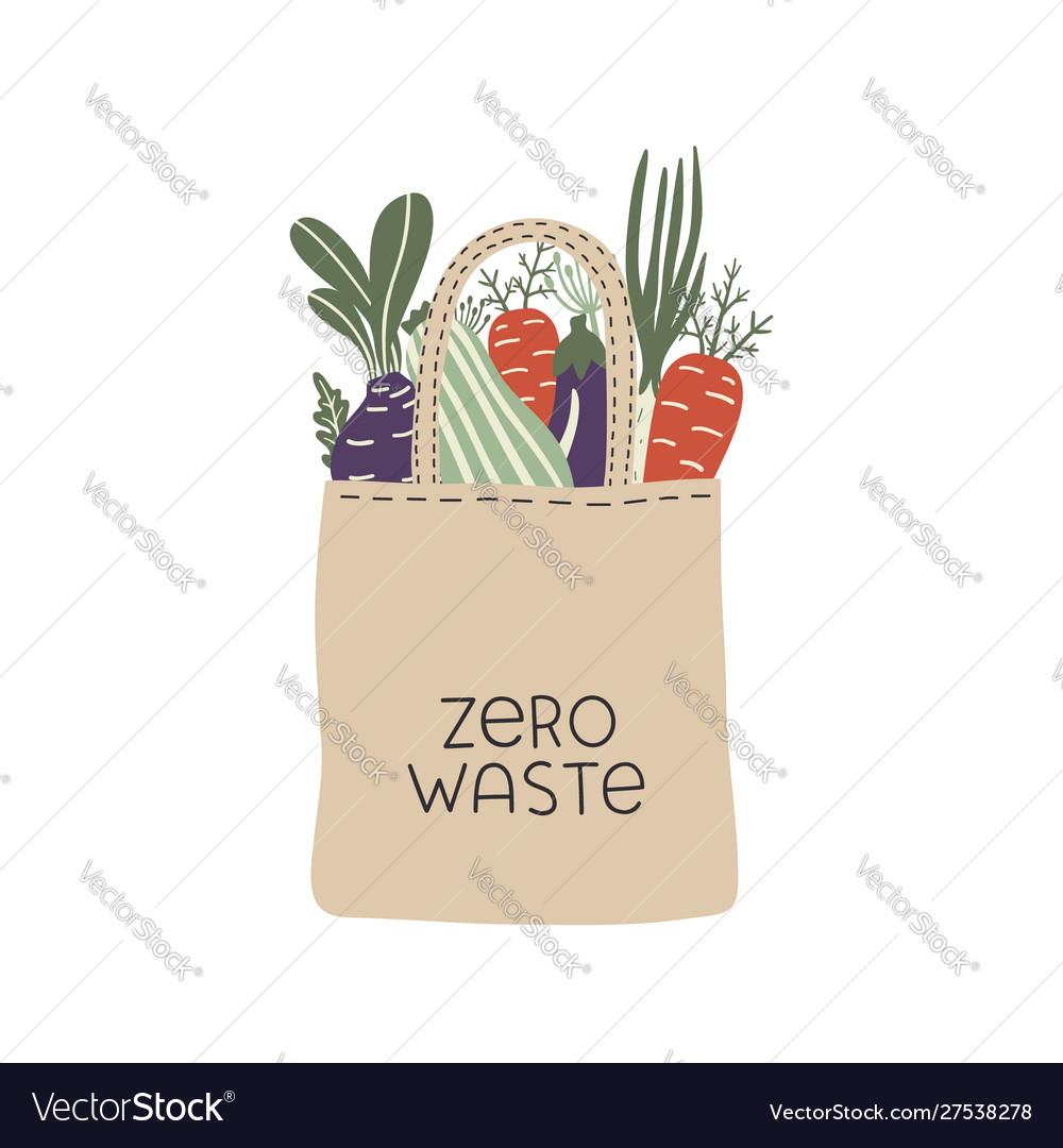 Textile eco-friendly reusable shopping bag with