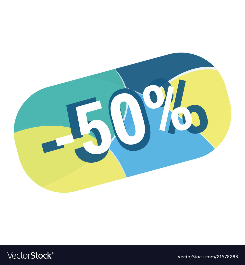 Abstract geometric discount button