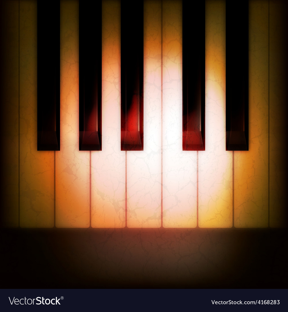 Abstract grunge music dark background with piano