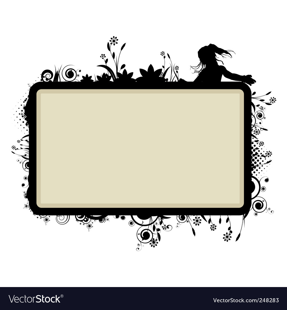 Frame template Royalty Free Vector Image - VectorStock