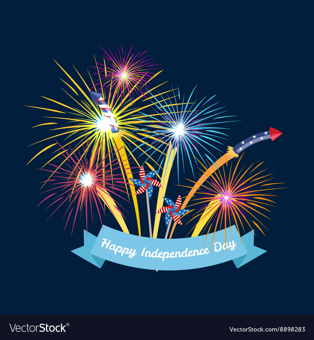 Happy 4th july independence day design