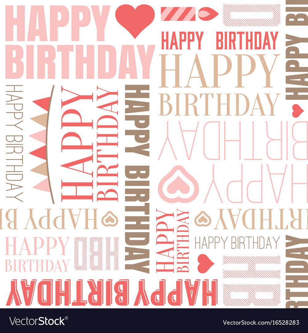 Happy birthday alphabet headline seamless