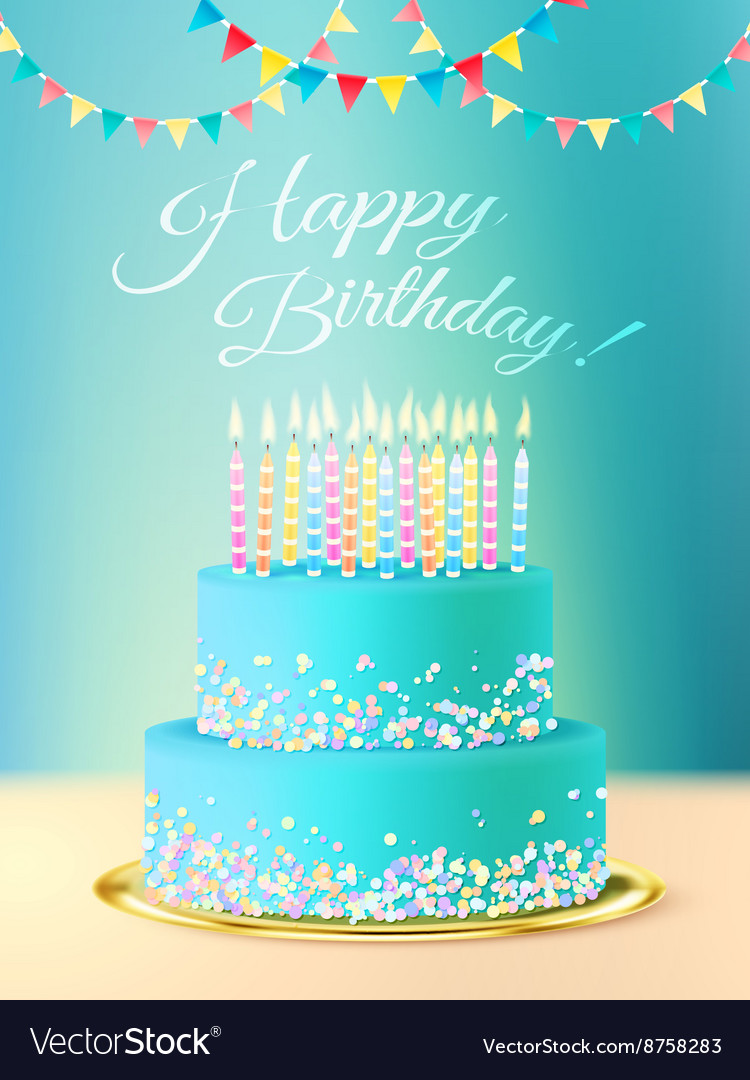 Miraculous Happy Birthday Message With Realistic Cake Vector Image Funny Birthday Cards Online Eattedamsfinfo