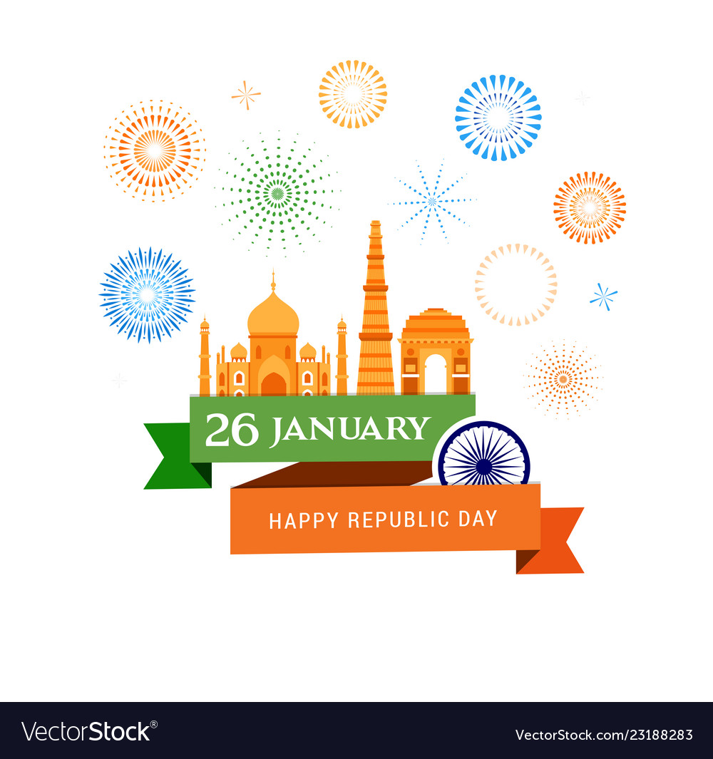 Indian republic day concept design banner poster