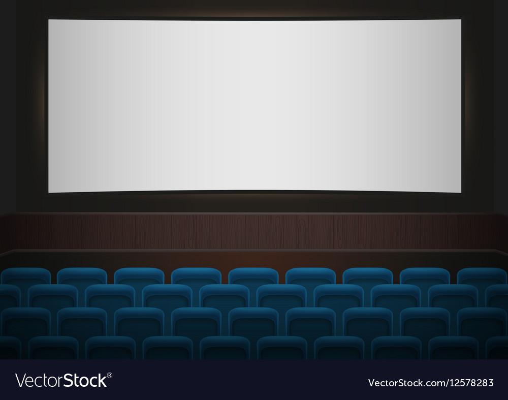Interior of a cinema movie theatre Blue cinema or