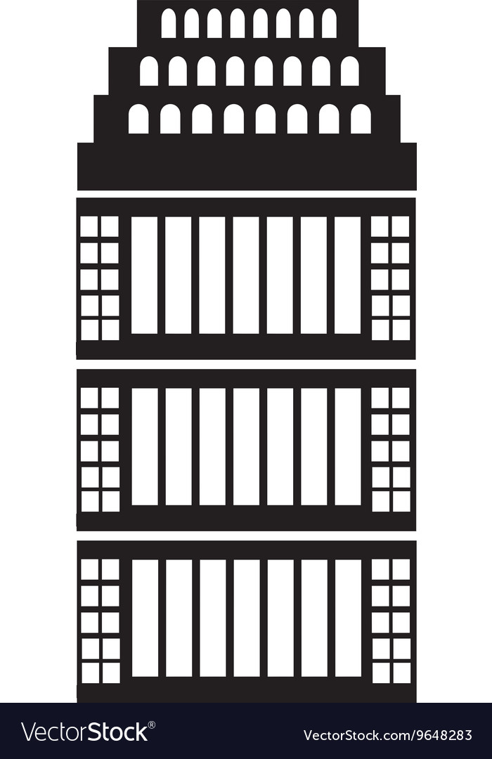 Isolated tall building graphic