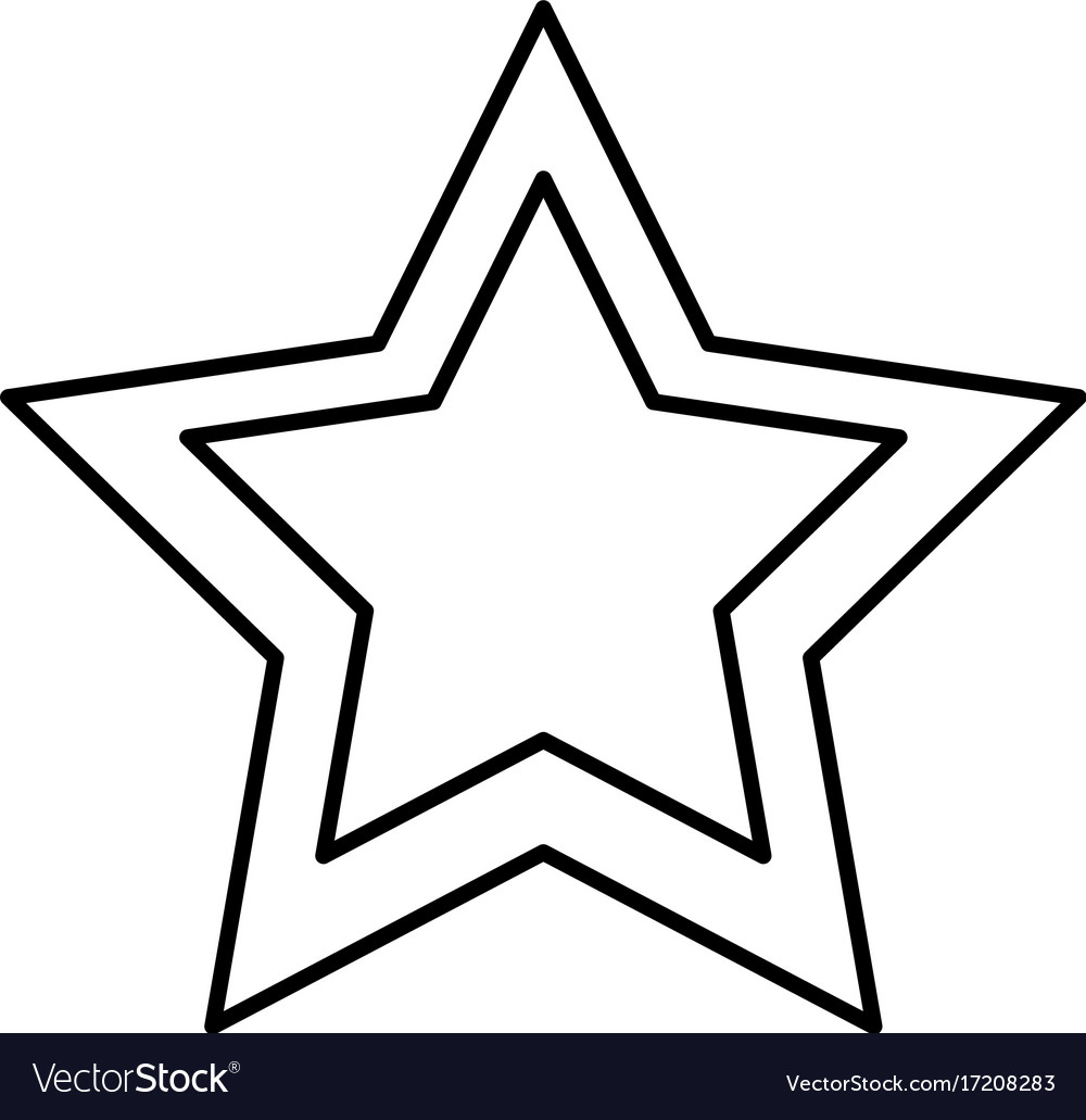 Star Shape Symbol Royalty Free Vector Image Vectorstock