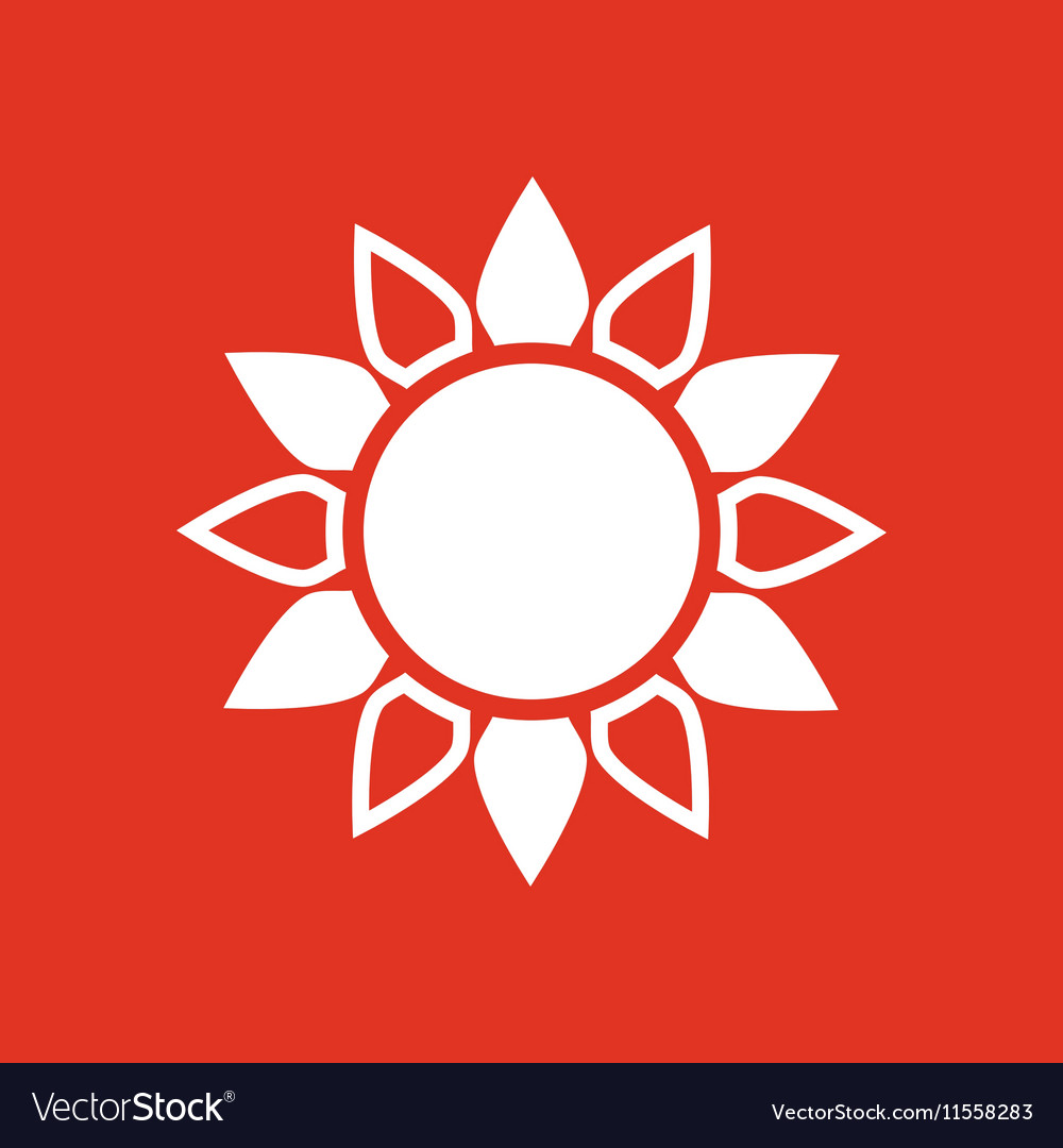 The sun icon Sunrise and sunshine weather sun