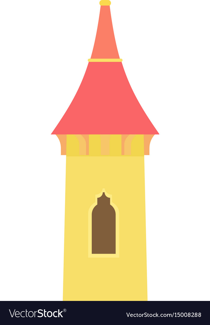 Castle tower icon cartoon style
