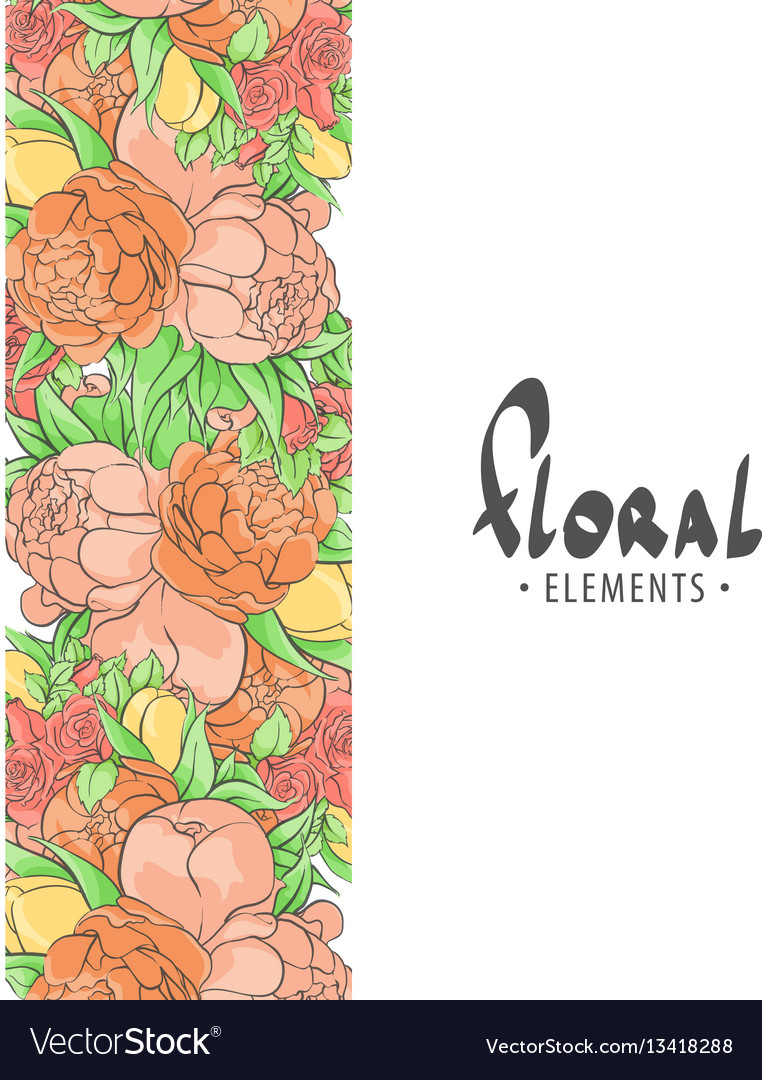 Design background with roses