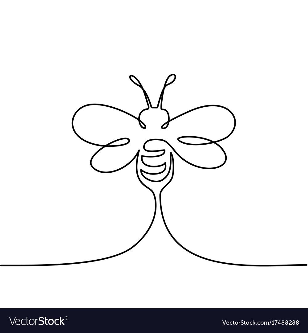 Flying bee logo