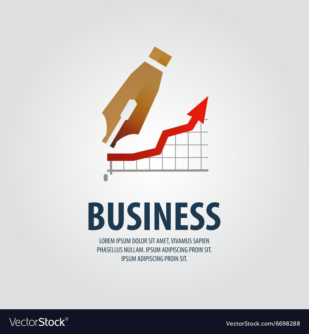Fountain pen logo design template business
