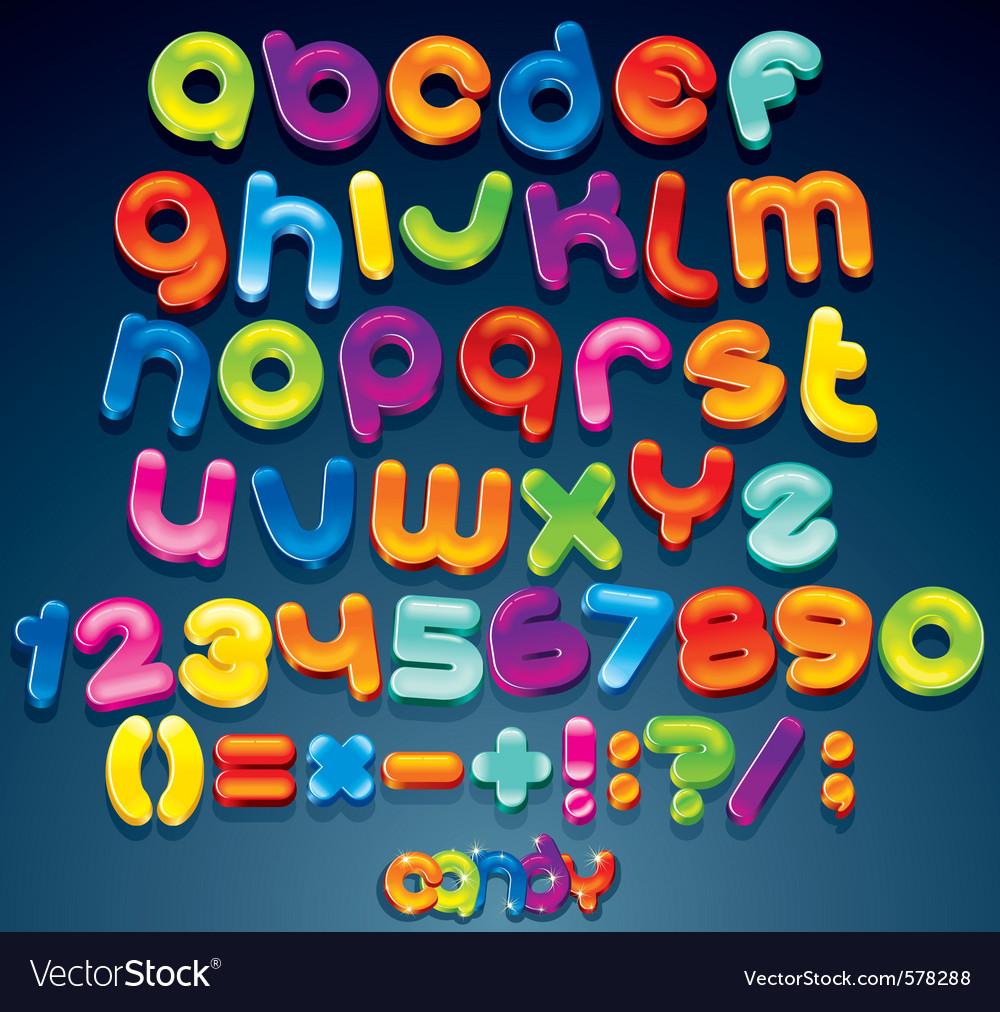 Funny cartoon alphabet
