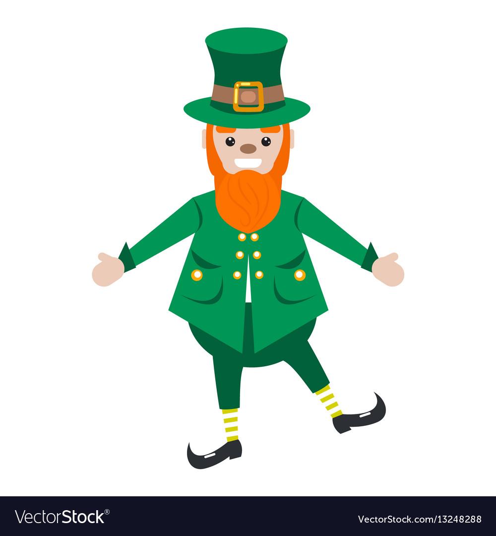 Irish st patrick leprechaun character