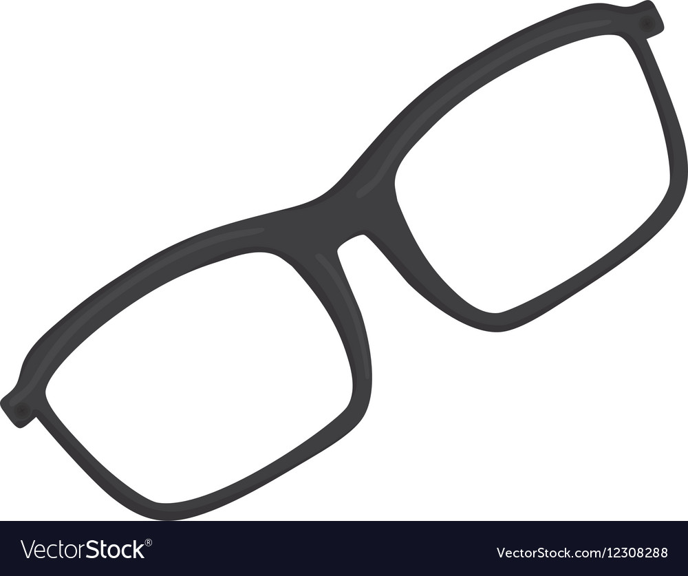 Isolated modern glasses