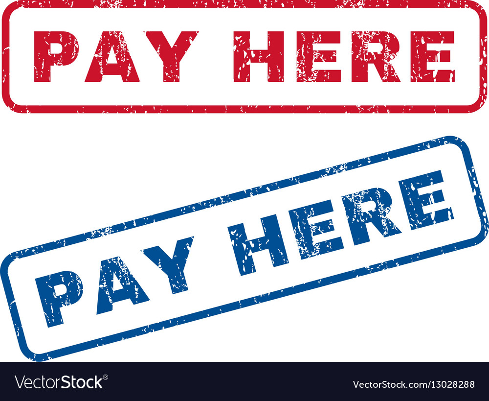 Pay Here Rubber Stamps vector image