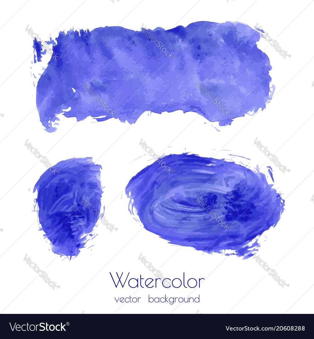 Set of navy blue watercolor texture backgrounds