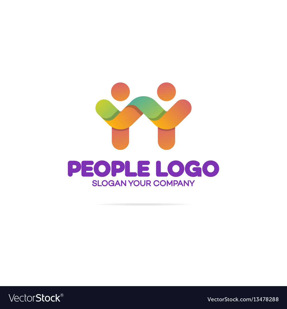 Support community logo consisting as two people