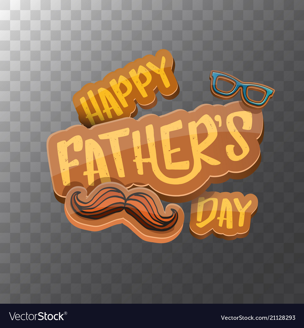 Happy fathers day cartoon greeting card
