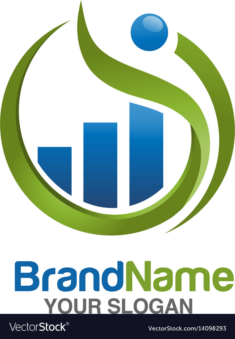Marketing and finance logo vector image