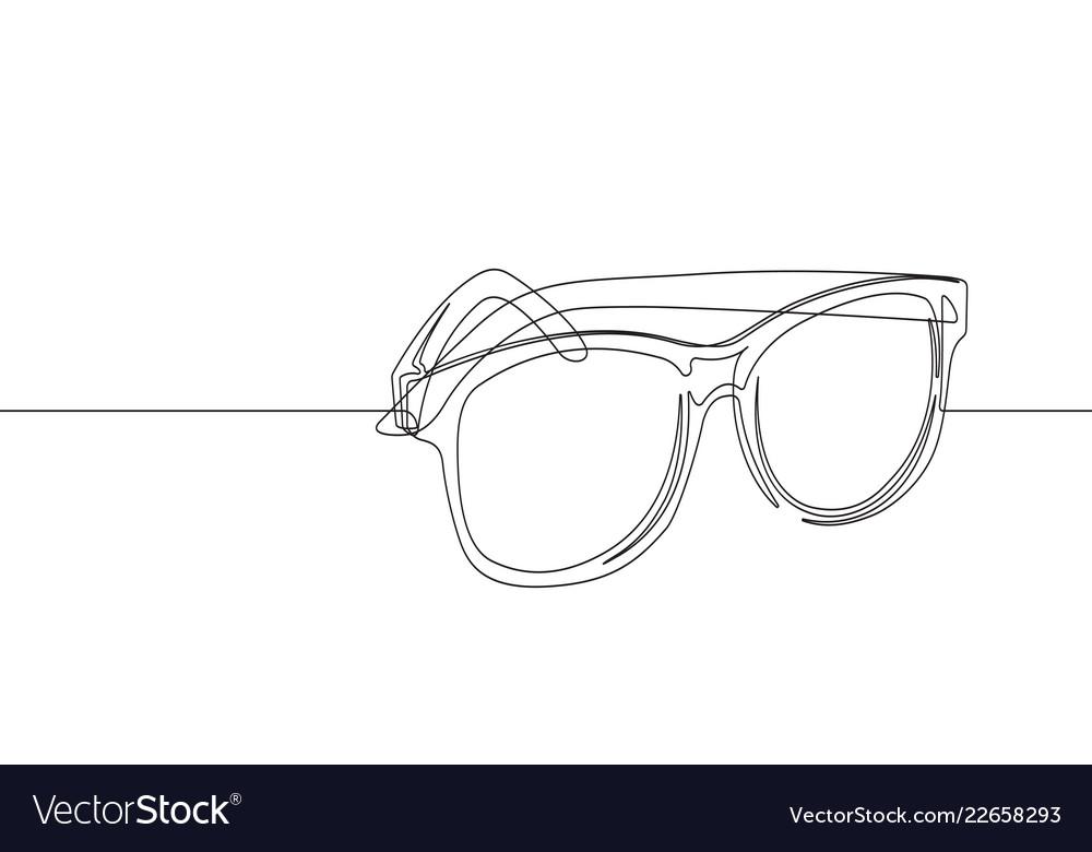 Sunglasses continuous line graphic