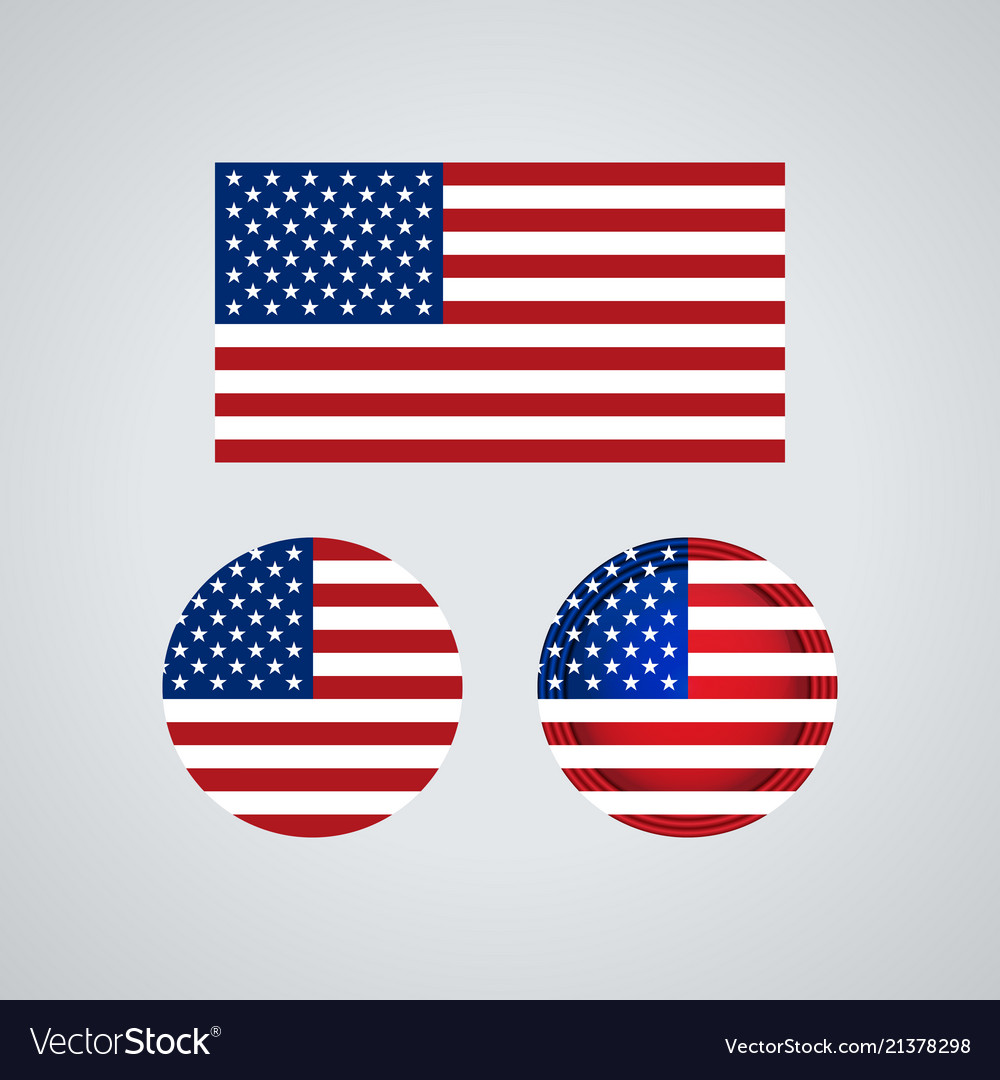 American trio flags
