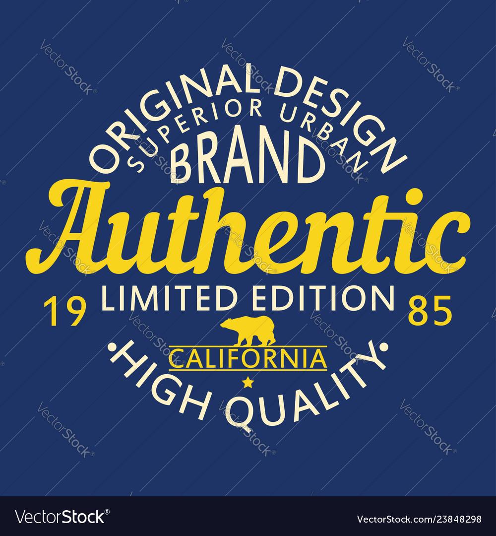 Authentic original design for t-shirt