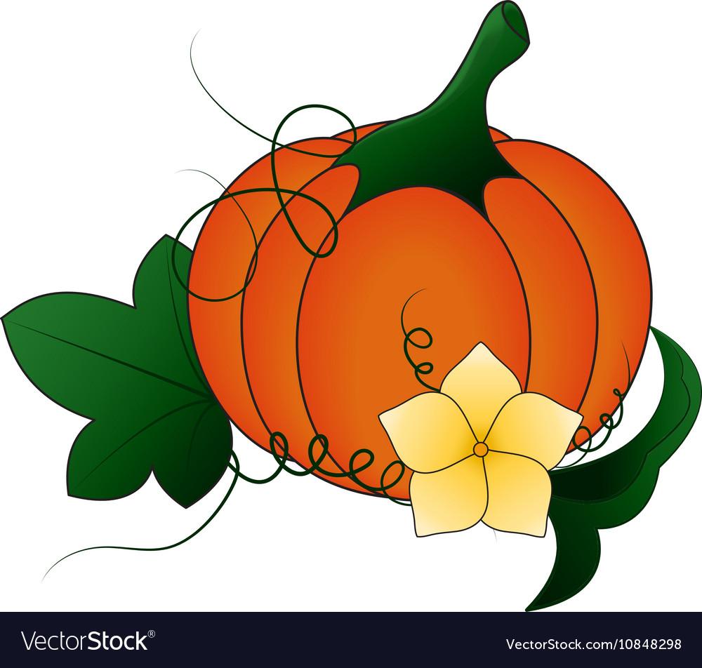 autumn pumpkin and leaves cartoon royalty free vector image rh vectorstock com cartoon leaves images cartoon leaves falling