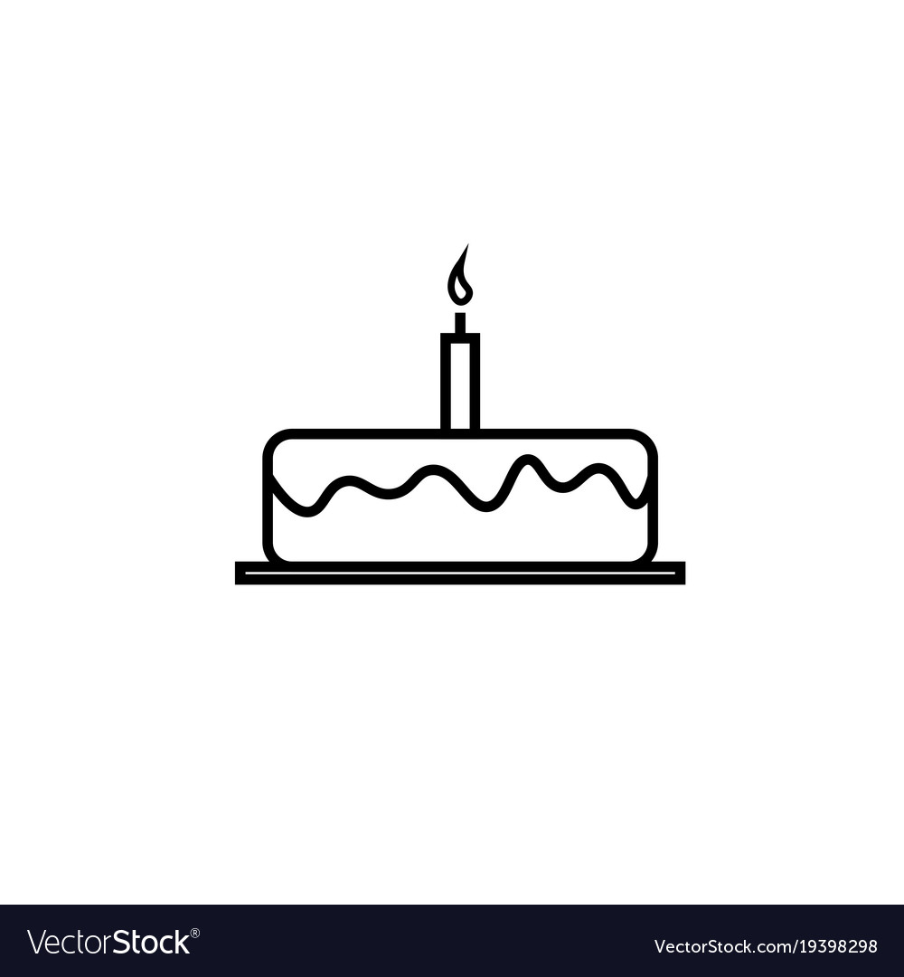 Birthday Cake Icon Royalty Free Vector Image Vectorstock
