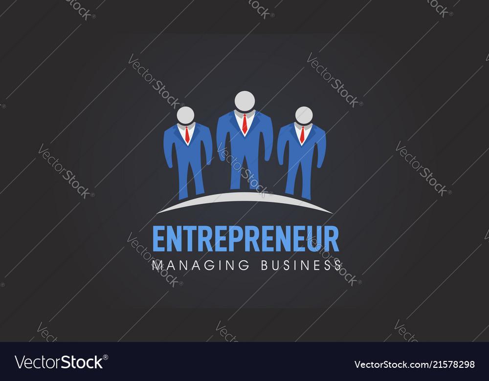 Business people entrepreneur company logo