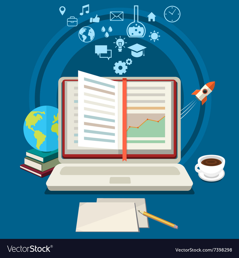 Concept Of Online Education Royalty Free Vector Image